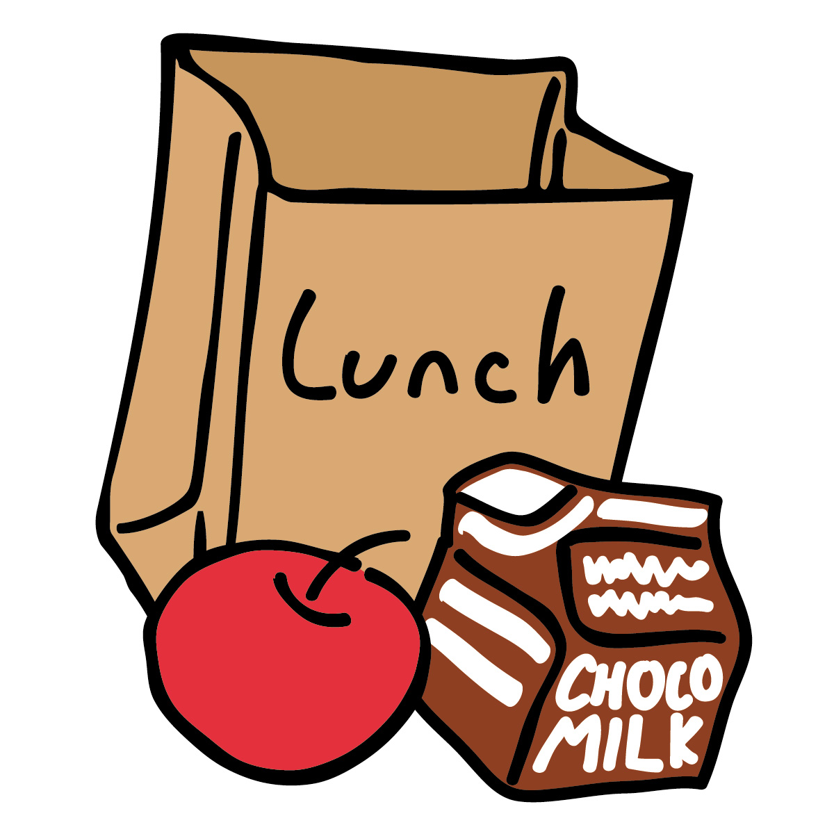 Image result for kids eating lunch clip art free